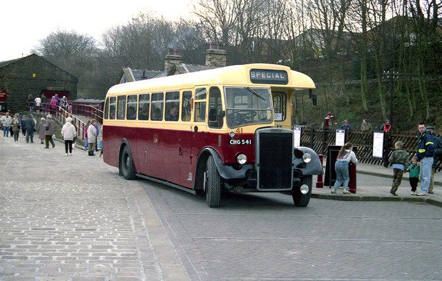 Preserved bus at Ingrow West