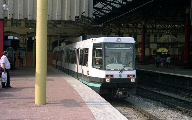 Manchester Victoria: first week of Metrolink