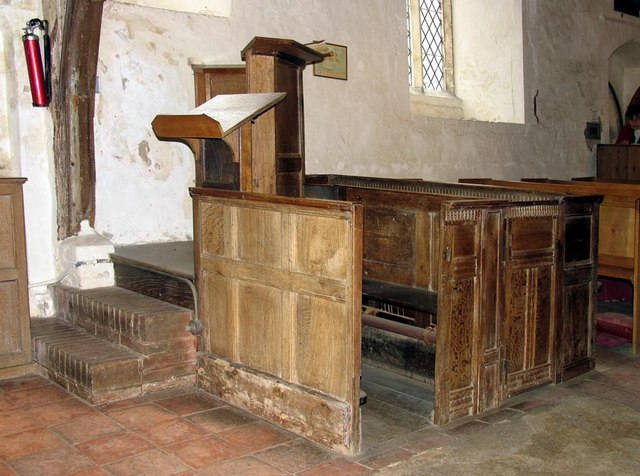 Southease Church, Sussex - Pulpit