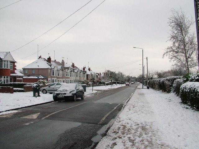 Green Lane in snow