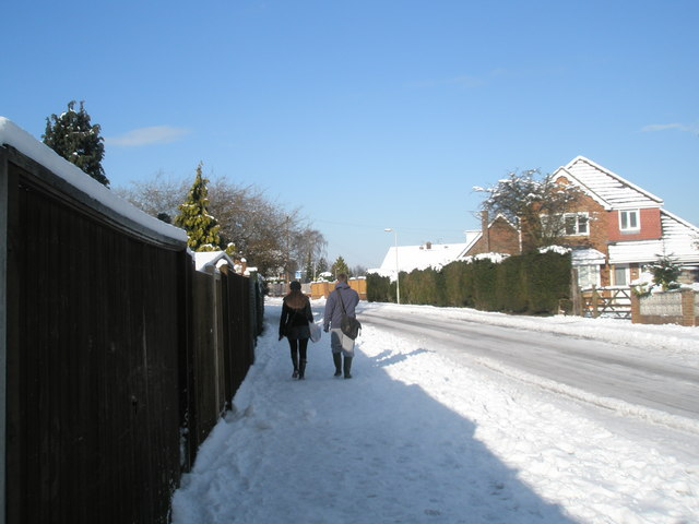 A snowy pavement in Scratchface Lane
