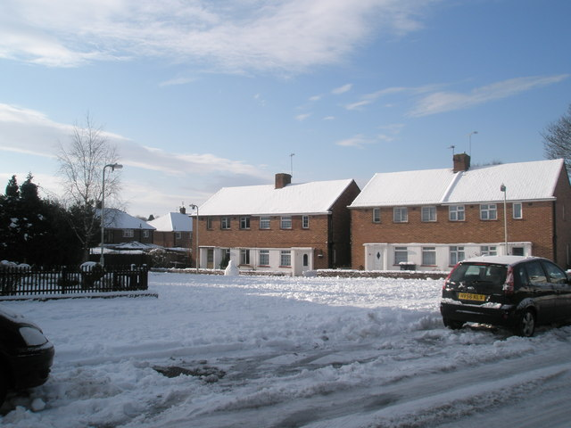 Snow covered houses in Scratchface Lane