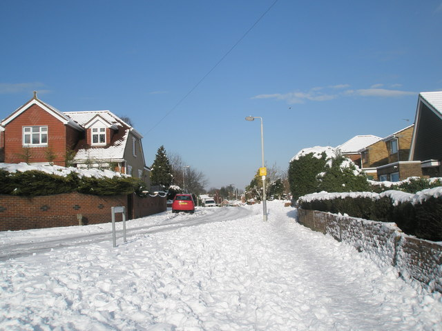Looking from Scratchface Lane into Matthews Close