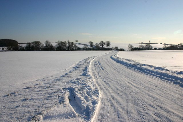 Lighthorne Road in the snow