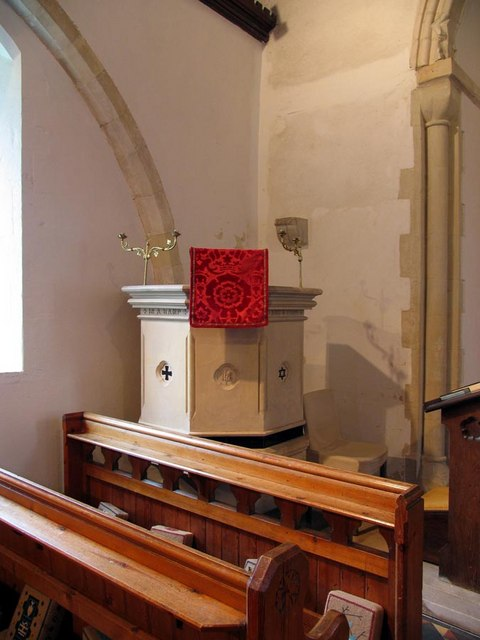 St Nicholas, Iford, Sussex - Pulpit
