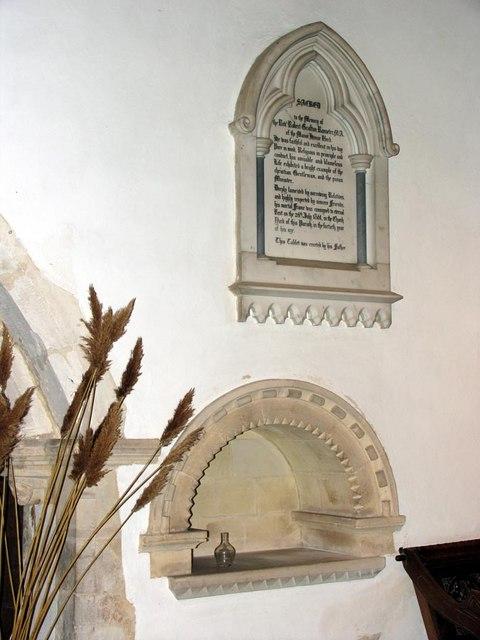 St Nicholas, Iford, Sussex - Credence shelf