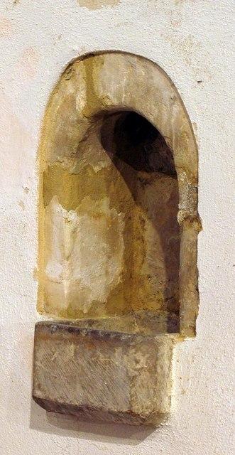 St Nicholas, Iford, Sussex - PIscina