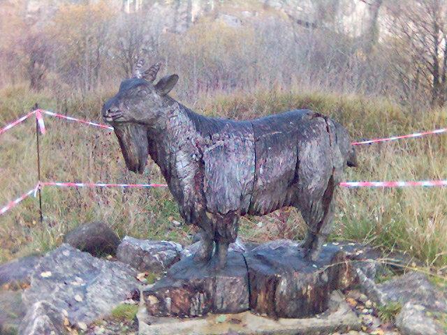 Goat Sculpture at Crich Tramway Museum, Derbyshire