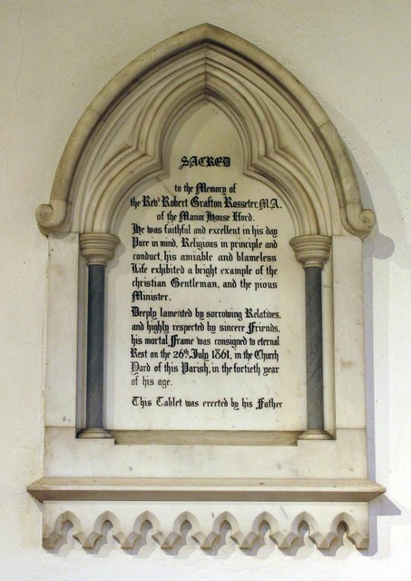 St Nicholas, Iford, Sussex - Wall monument