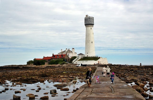 St. Marys' Lighthouse from the causeway