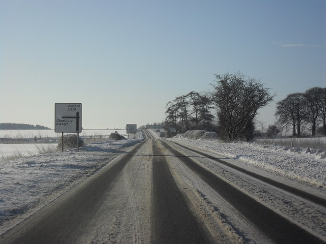 The A361 between Shipton Under Wychwood and Fulbrook