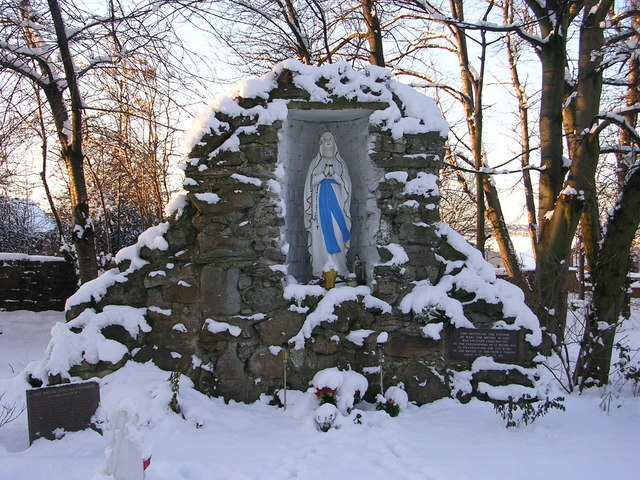 Grotto at St Peter's Catholic Church - Leeds Road