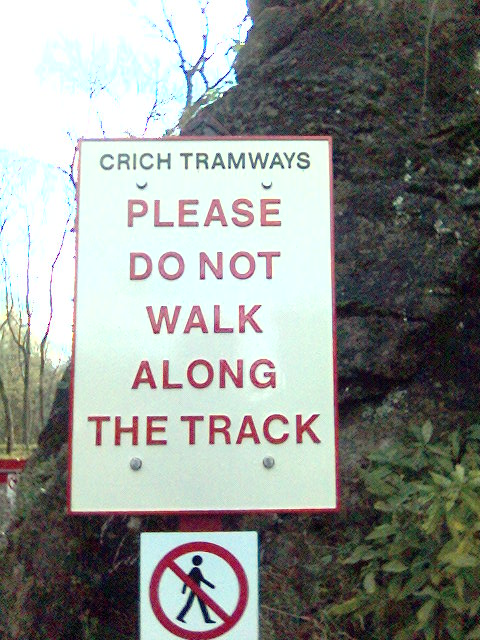 Sign At Crich Tramway Museum, Derbyshire