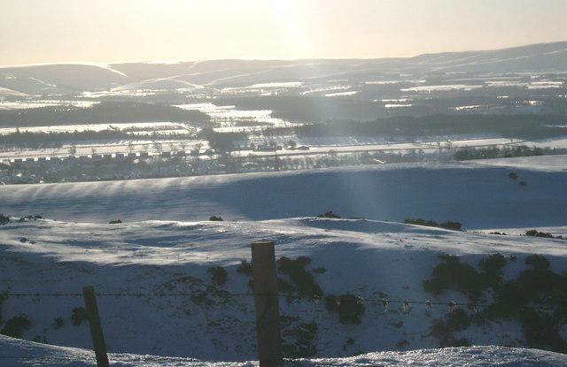 Lammermuir escarpment above Gifford