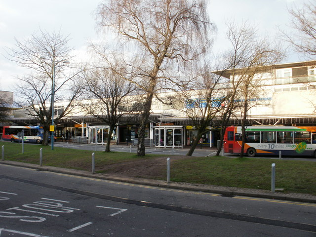 Cwmbran Bus Station island