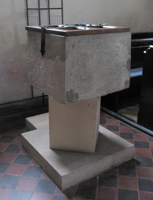 St Andrew, Ford, Sussex - Font