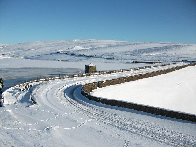 Dowry Reservoir in Winter