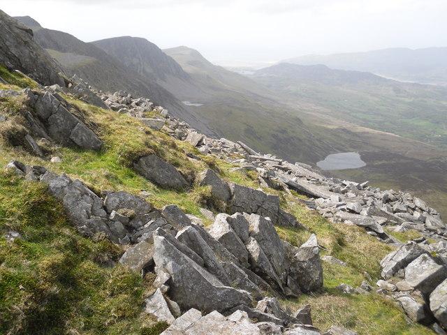 Looking along the Penygadair ridge