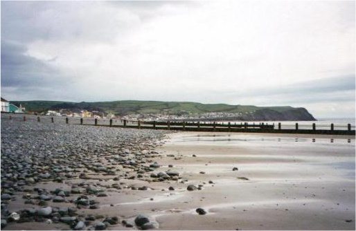 The beach at Borth