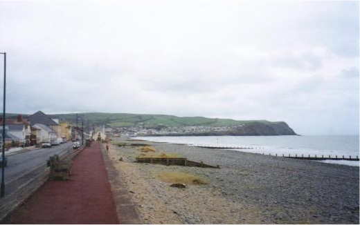 The seafront at Borth