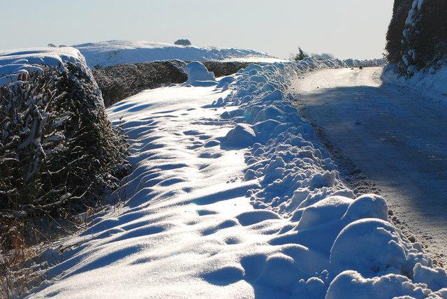 Roadside snow