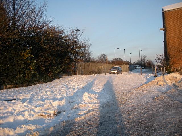 Morrison's car park, towards Heaton Rd