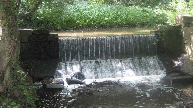 Waterfall on Markeaton Brook, Markeaton Park, Derby