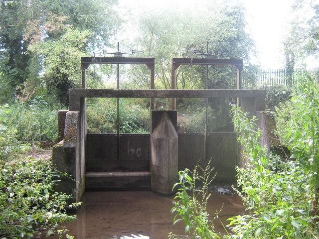 Sluice Gates at Markeaton Park, Derby
