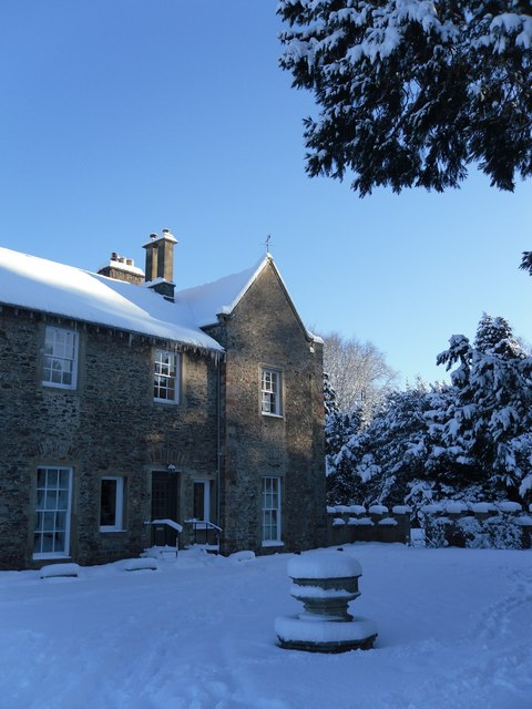 Old Gala House in the snow