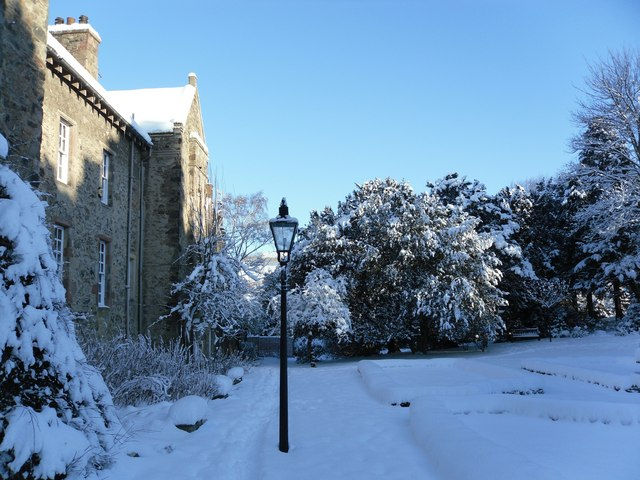 Winter hits Old Gala House