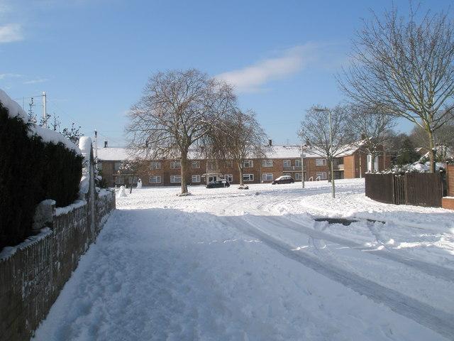 A snowy Mitchell Road