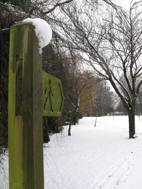 Tredegar park in the snow