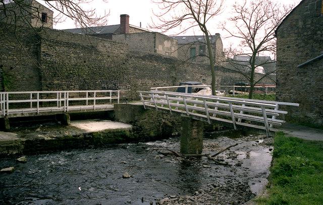 Footbridge over Eller Beck, Skipton