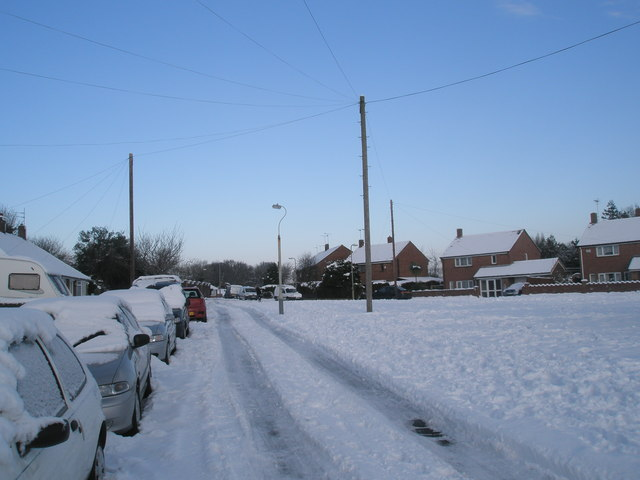 Heavy snow in Mitchell Road