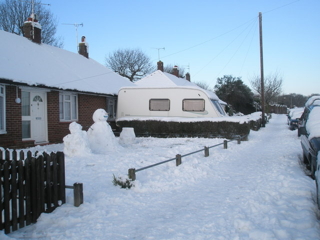 Snowman in Mitchell Road