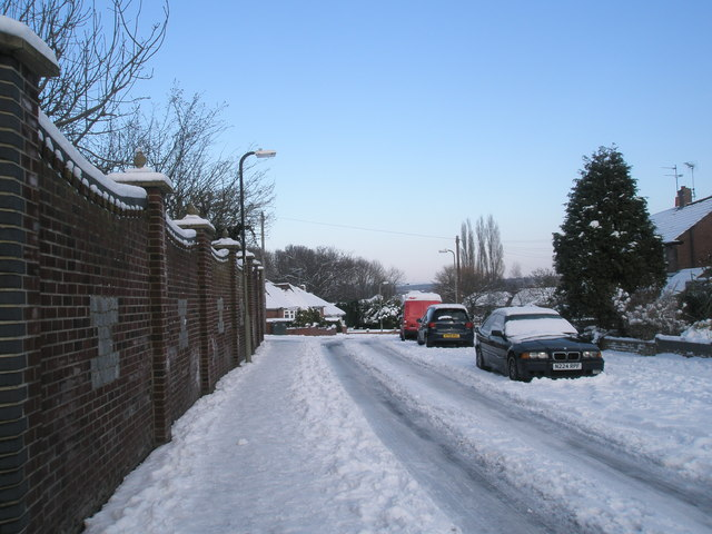 Treacherous conditions in Mitchell Road