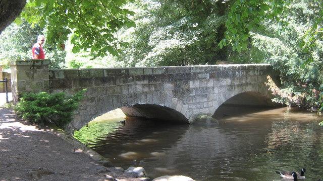 Markeaton Bridge in Markeaton Park, Derby