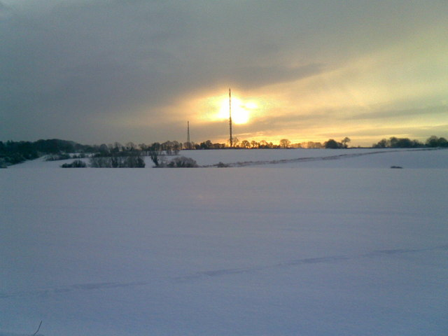 Bedmond Transmitter in Snow