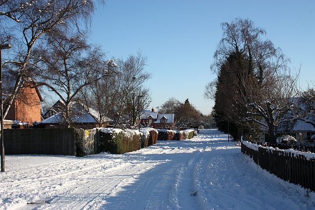 St Wulstans Drive in the snow