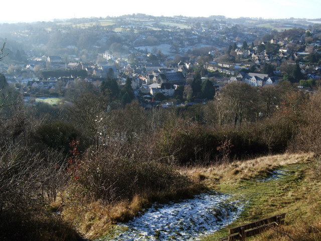 Nailsworth from The Ladder at Midday on Christmas Day 2009