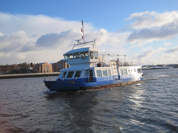 Spirit of the River Tyne, Arriving at North Shields
