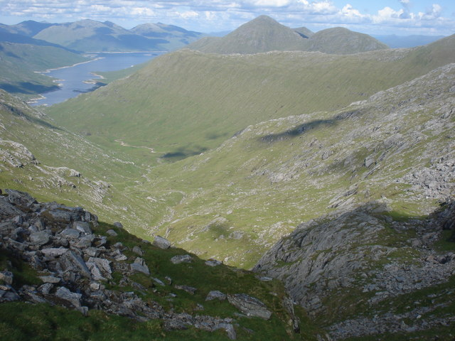 Coire nan Gall and Loch Quoich