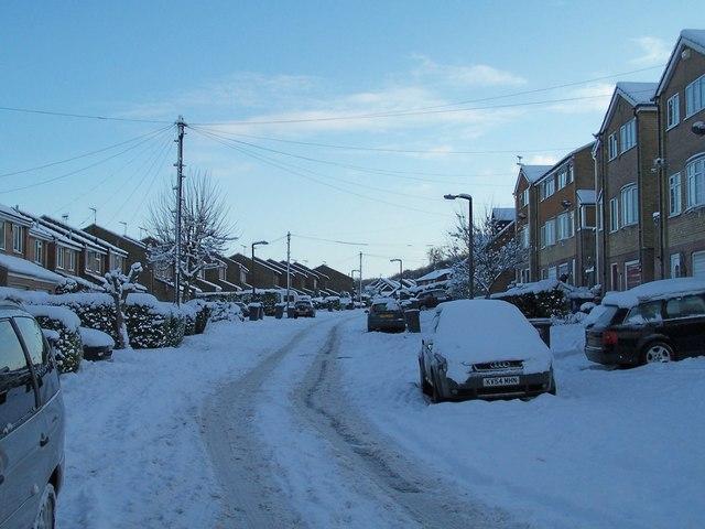 January 2010 - Coward Drive in the snow, Oughtibridge - 1
