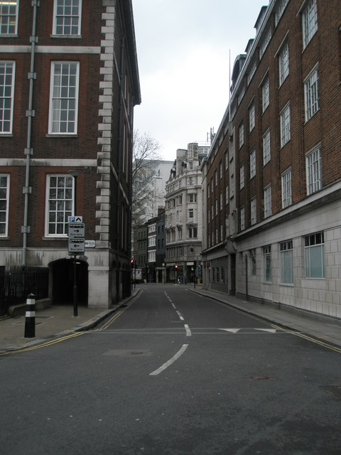 Looking from Lincoln's Inn Fields along Remnant Street towards Kingsway