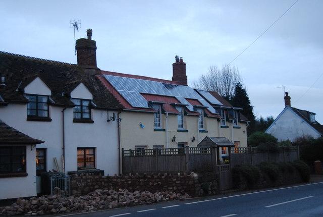 Houses on the A39, Carhampton
