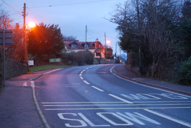 A39 coming into Carhampton