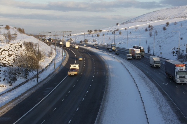 M62 Motorway at Wholestone Moor Cut