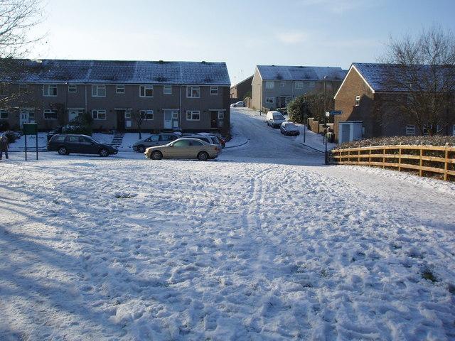 Cambridge Drive in the snow
