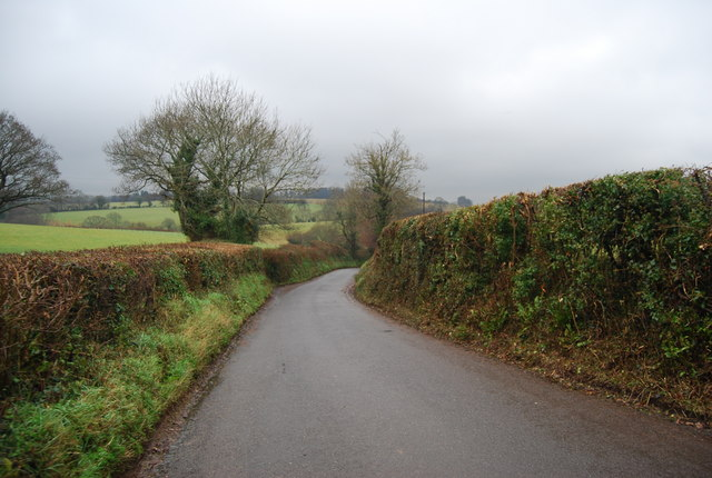 Lane west of the A358 near Crowcombe