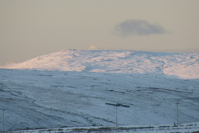 Libbers Hill in the snow, from Baltasound
